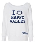 HAPPY VALLEY FOOTBALL SWEATSHIRT - WHITE